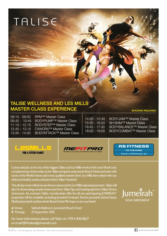 JBH-R&L-0170 Talise Fitness Event Collaterals Poster A3-02